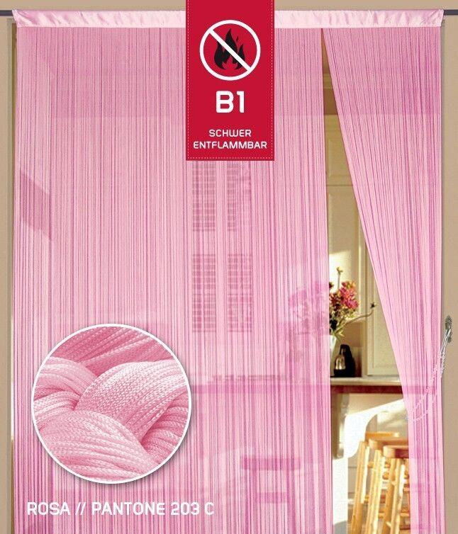 Filo sipario filo cancelli b1 difficilmente infiammabili 150 CM x 500 cm (BxH) rosa