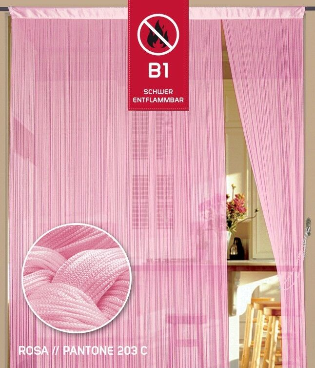 Fil Rideau Fadenstore b1 difficile inflammable 150 150 150 cm x 500 cm (x) rose fc5fd3