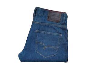 Next-34R-W34-034-L33-034-Bleu-Denim-Jeans-Homme-Delave-Selvedge-Slim-Premium
