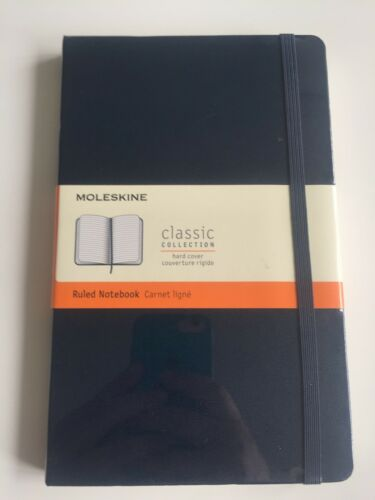 Moleskins Ruled Notebook BLU Hard Cover Classic Collection
