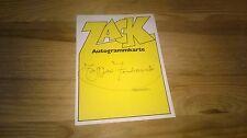FAN Autogramm Karte Zack (Comic) : Ferdinando Tacconi ( + name / typewriter )