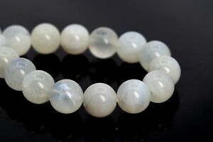 110743-3234 10MM Translucent Milky Rainbow Moonstone Beads Genuine Natural Gemstone Full Strand Round Beads 15.5  7.5 Bulk Lot Options