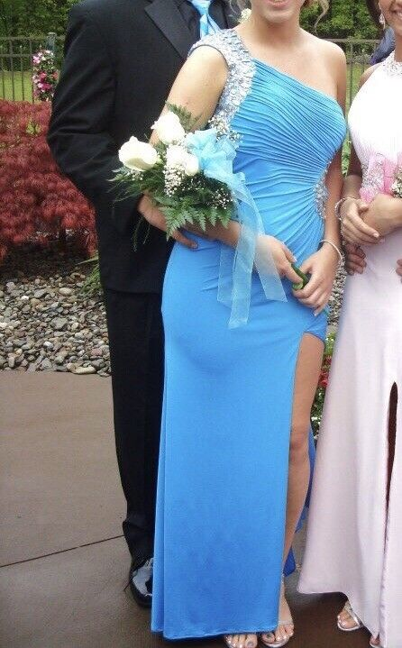 Royal bluee Gown; Prom Dress; Maxi Dress; One Shoulder; Formal Formal Formal Occasion; Size 6 b7f43a
