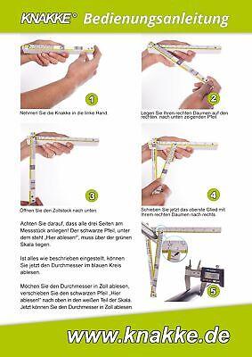 zollstock mit durchmesser