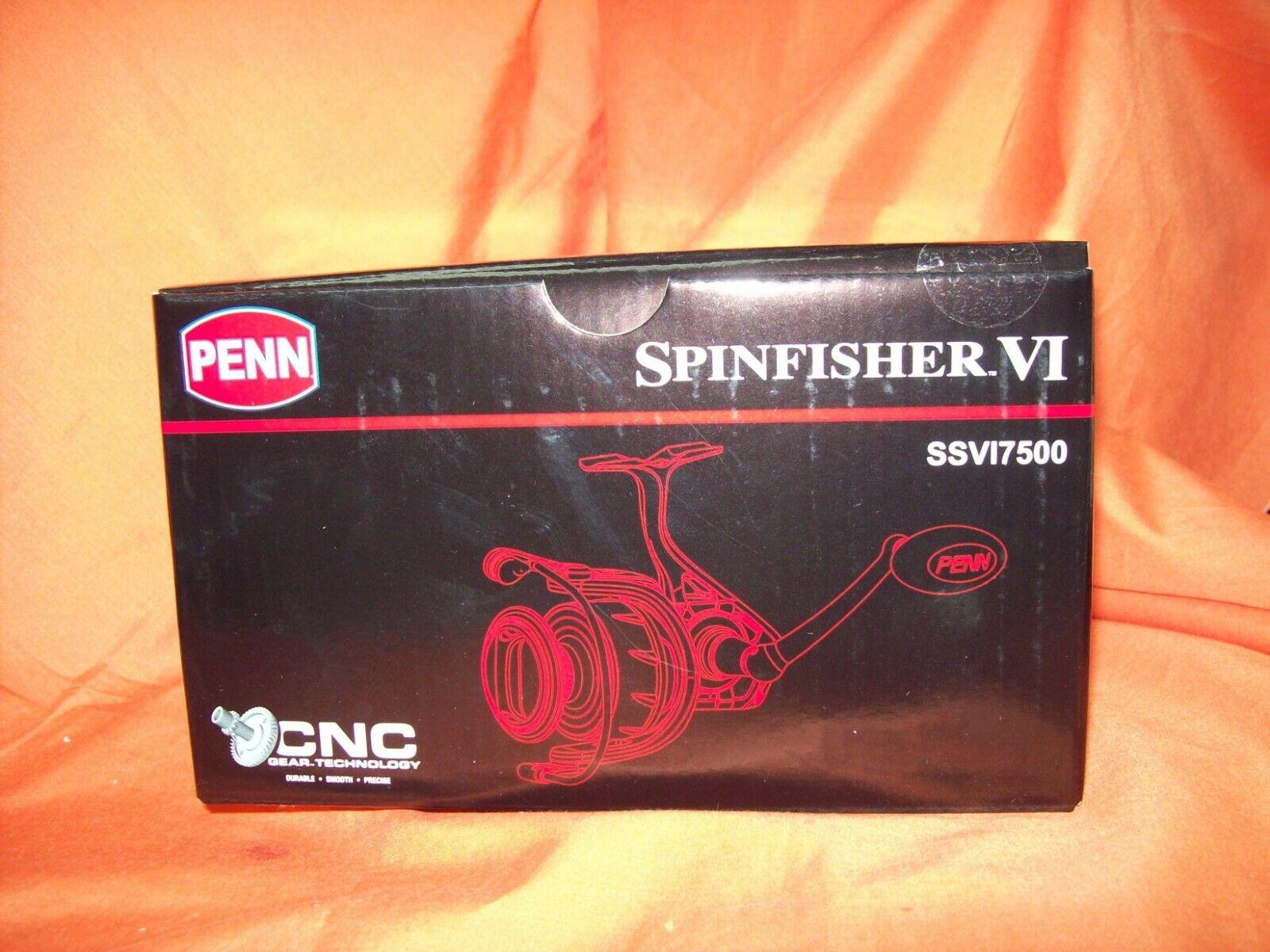 PENN SPINFISHER VI 7500 Spinning Reel Gear Ratio 4.7 1  1481265 SSVI7500