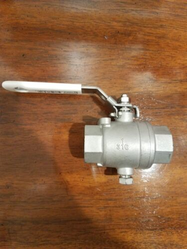 "GROCO 1/"" STAINLESS STEEL MARINE GRADE BALL VALVE IBV-1000-S #316 IN LINE FF BV"