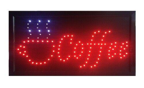 LED  Schild  COFFEE SCHILD   mit Kette NEU !!!