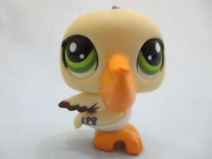 Littlest-Pet-Shop-Pelican-Cream-with-Green-Eyes-1350-Authentic-Lps