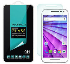 TechFilm® Tempered Glass Screen Protector Saver For Motorola Moto G (3rd Gen)