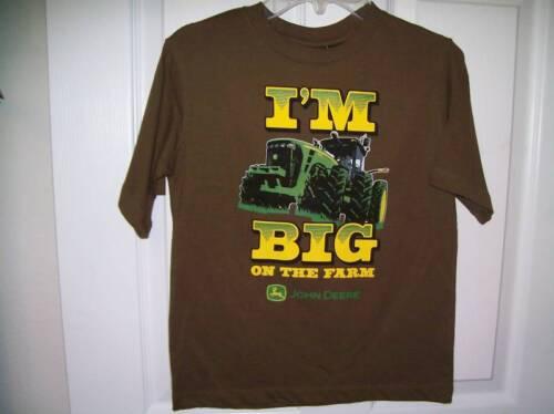 John Deere Tractor I/'m Big on the Farm Shirt Boys Size 7 NWT  #11