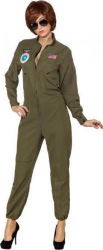 Jet Pilot Pilotenkostüm Pilotin Armee Piloten Kostüm Uniform Kleid Flieger Kombi  | Vollständige Spezifikation