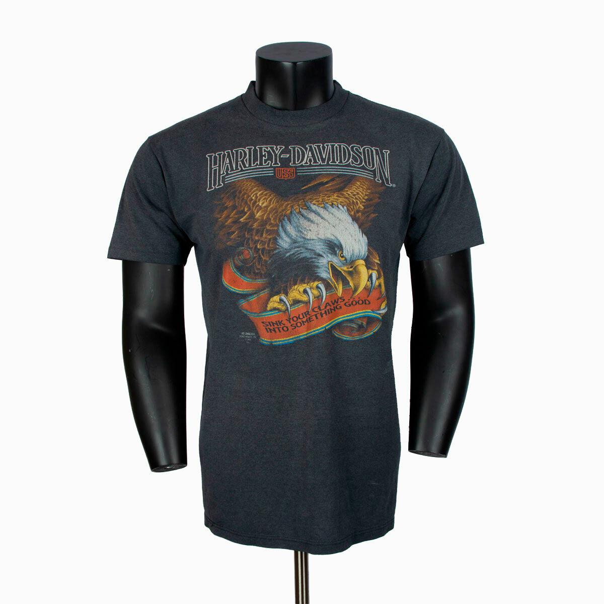 Harley Davidson 3d Emblem shirt eagle sink your claws 1991 XL