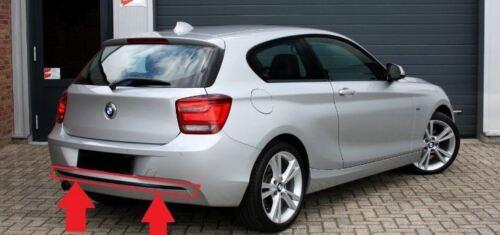 BMW Neu Original F20 F21 Sport Line Hinten Stoßstange Zierleiste Schwarz 7273796