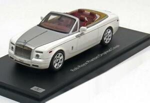 1-43-Kyosho-Rolls-Royce-Phantom-Drophead-Coupe-2012-White-Silver