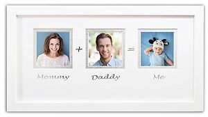 Baby Frames Collection 7x14 Inch Mommy Daddy Me Frame Babyshower