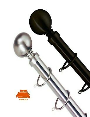 Intellective Metal Ball Finial 25 - 28mm Telescopic Extendable Metal Curtain Pole Set Zonder Terugkeer