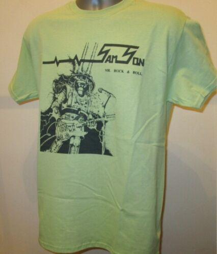 Samson Mr Rock /& Roll T Shirt Music Heavy Metal NWOBHM Iron Maiden Saxon New 269