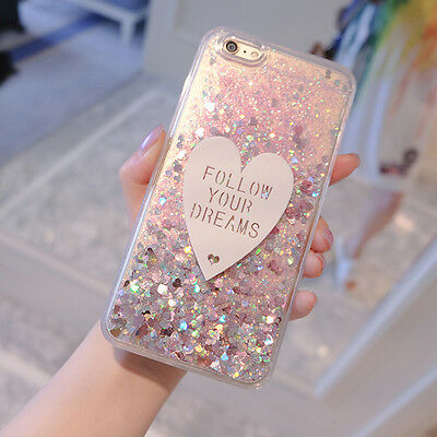 Luxury Cute Bling Love Giltter Soft Side Hard Case Cover for iPhone 6 6S 7 Plus