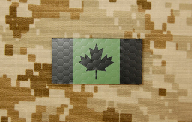 Mini Canadian IR Green Flag Patch JTF-2 CSOR CANSOFCOM SOG InfraredVELCRO® Brand
