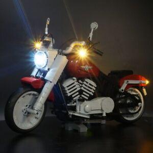 Led Light Kit For Lego 10269 Harley Davidson Fat Boy Blocks Set Lighting Blocks Ebay