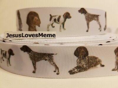 Grosgrain Ribbon Labrador Retriever Dogs Breeds I Love Labradors Rescue 7//8/""