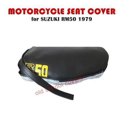 SUZUKI TS250 TS 250 B C N 1977-1979 SEAT COVER WITH STRAP /& LOGO