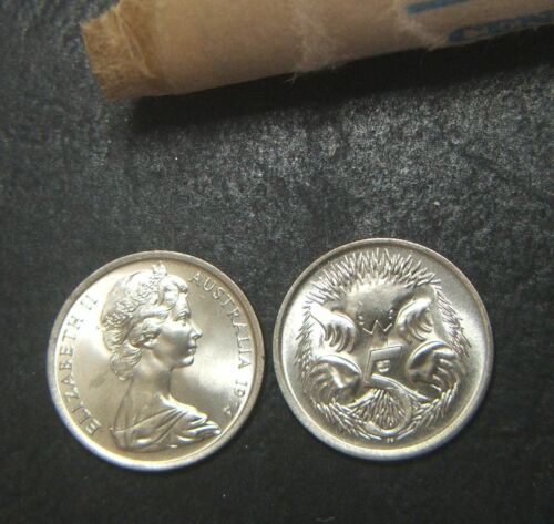 1974 5 cent coin from a Mint roll