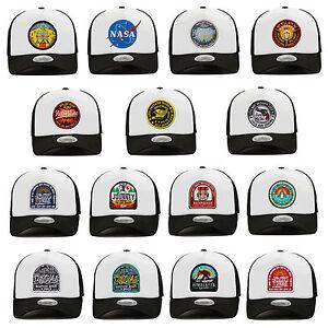 Unisex-Mens-Flipper-Detachable-Velcroed-Patch-Mesh-Baseball-Cap-Trucker-Hats