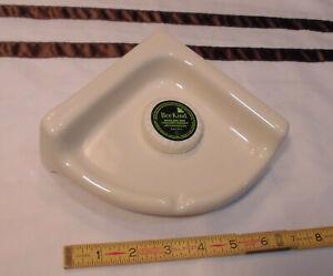 Ceramic *Glossy Biscuit* Reversible Corner Bath-Shower Soap Dish-Tray-Shelf  NEW