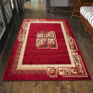 Teppich Wohnzimmer Klassisch Griechisch Rot Laufer S Xxl 200x300