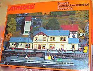 Bahnhof-Radeburg-ARNOLD-6459-Bausatz-KIT-NEU-OVP-1-160-fuer-Spur-N