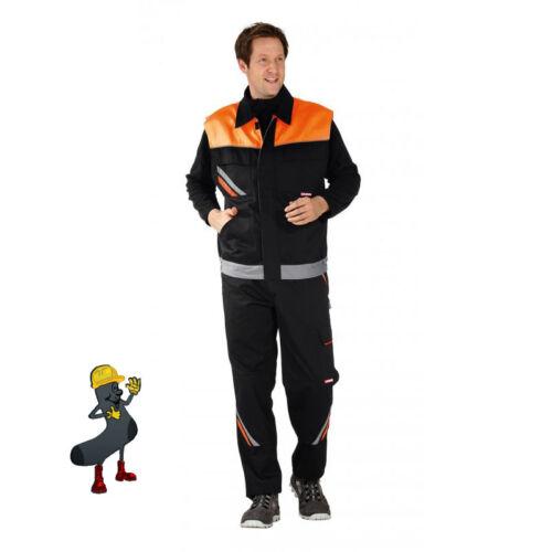 Arbeitshose Arbeitsjacke Arbeitsshort Weste Arbeitslatzhose schwarz//orange k