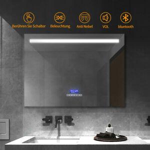 Badezimmer Wand Kosmetikspiegel Schminkspiegel Bluetooth Led Licht Antibeschlag Ebay