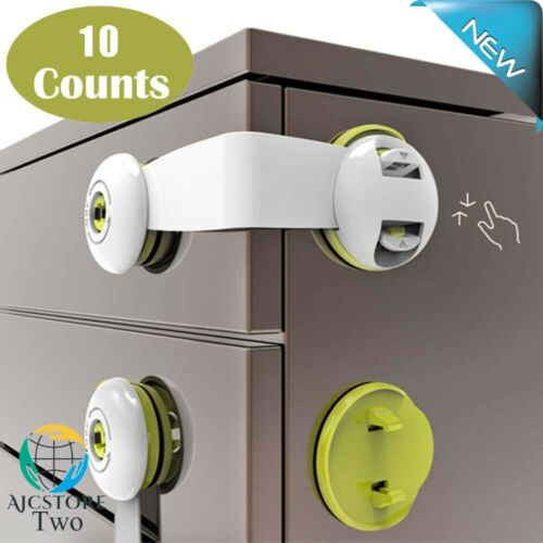 Cupboard Locks for Children Stick on Child Safety Latch Adhesive Kids Proof Draw