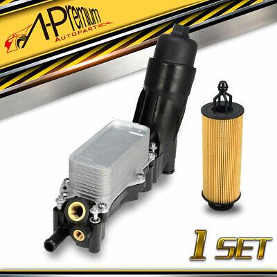 Replaces# 68105583AF 68105583AA Engine Oil Cooler Oil Filter Housing Adapter Assembly for 2014-2017 Dodge Jeep Chrysler Ram 3.6L V6 Engine 68105583AE