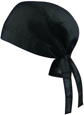 Bandana Hut Mütze Hat Kochbekleidung Kopftuch Farbe Schwarz Hochwertige Materialien