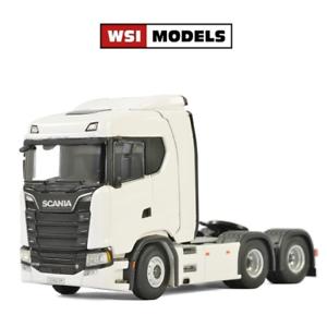 WSI 03-2006 Scania S CS20N 6x2 Tractor Unit Plain White 1 50 Scale