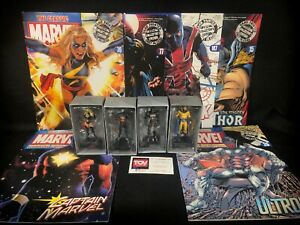 Eaglemoss-MARVEL-lead-Figurine-Collection-Avengers-LOT-of-4-Ms-Captain-Ultron