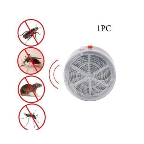 Solar Powered Buzz UV Lamp Light Fly Insect Bug Mosquito Kill Zapper Killer