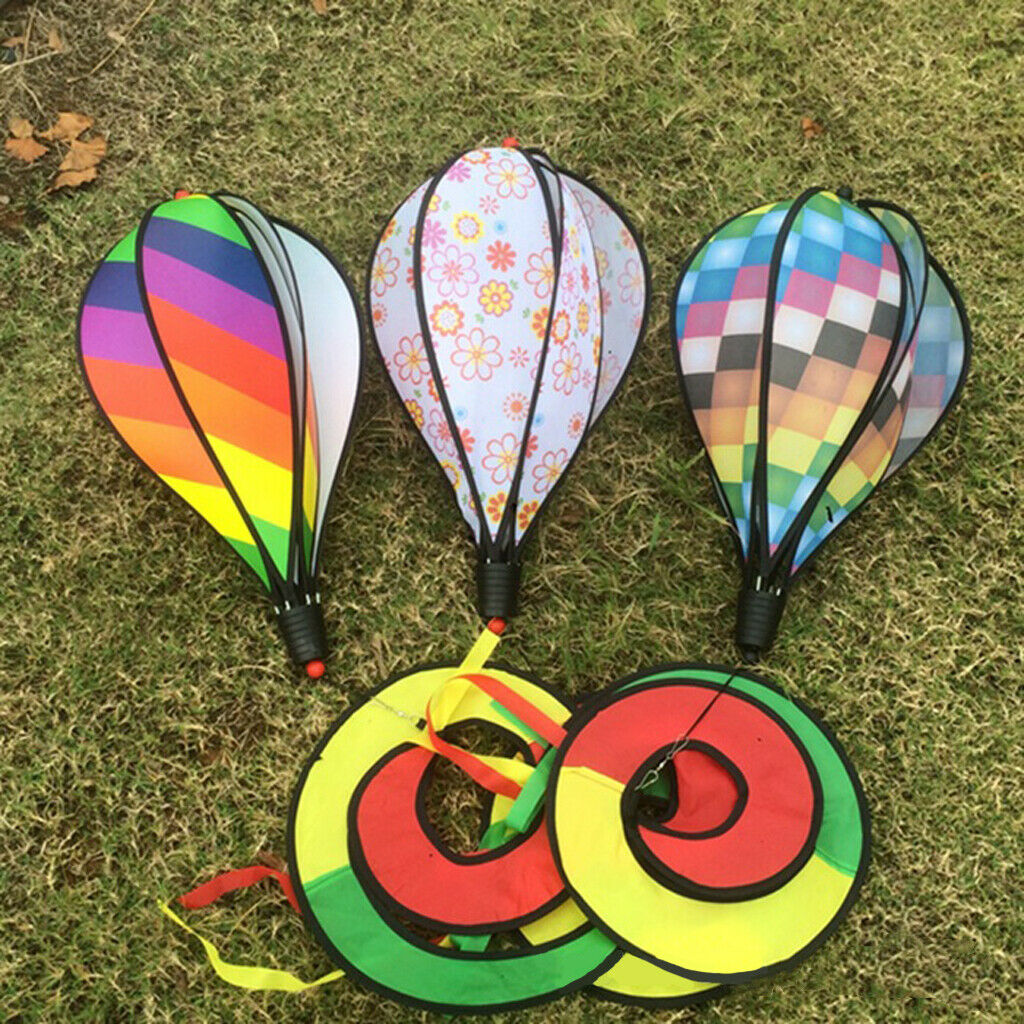 Colorful Wind Spinner Windsock Hot Air Balloon Toys Outdoor Yard Decor
