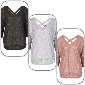 Cross-Back-METALLIC-Oversized-Knit-Top-in-Rose-Pink-SIlver-or-Black-SIZES-8-14