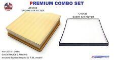 AF6102 C46126 COMBO SET Engine /& Cabin Air Filter For 10-15 CHEVROLET CAMARO