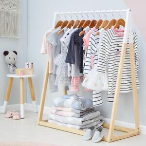 Clothes Rack Kids Garment Wooden Hanger