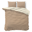 Top Bettwäsche-Set Bettbezug Kissenbezüg Baumwolle Faser Twin Face Beige Creme
