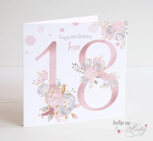 Personalised Daughter Granddaughter Friend 50th Birthday Card Niece