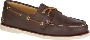 Sperry-Top-Sider-Gold-Cup-A-O-2-Eye-Boat-Shoe-Men-s-Brown-Leather-170-NEW