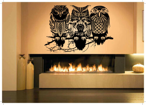 Vinyl Sticker Tattoo Celtic Owl Bird Animal Wild Art Wall Room Decor Decal FI885