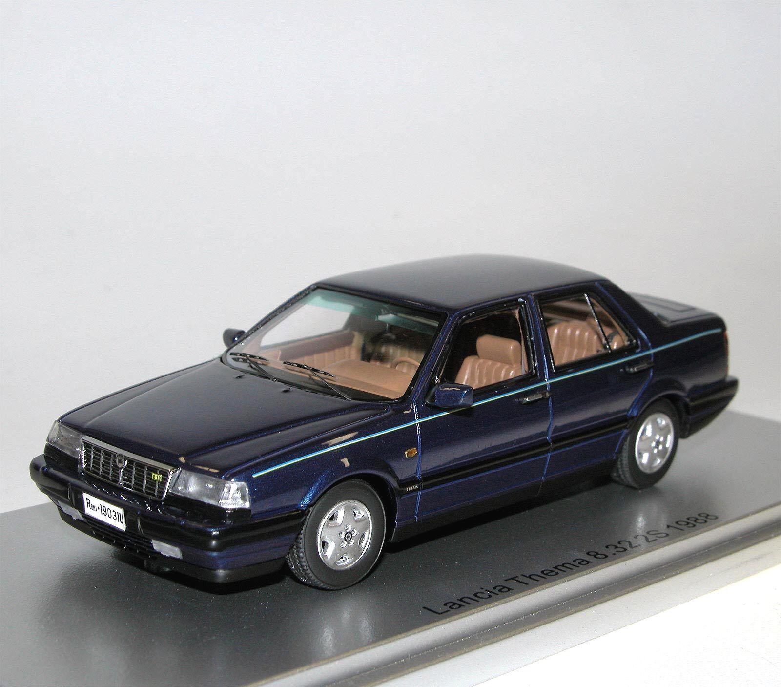 Kess scale models 1988 Lancia tema 8.32 2s blu Blizzard metalizado blu 1 43