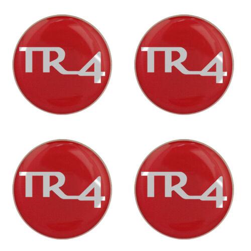Triumph TR4 logo rouge auto-adhésif lot de 4 gel roue centres