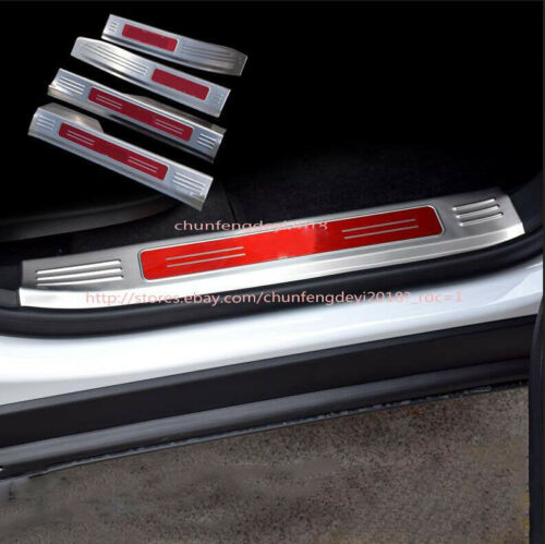 4PC Steel Inner Door Sill Scuff Plate Threshold Bars For Chevrolet Equinox 2018